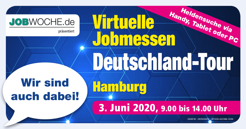 Virtuelle Jobmessen Deutschlandtour – wir sind dabei!